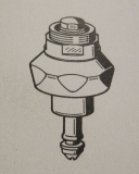 2000104398 / 82-100-03.110 Franke Aquarotter Oberteil DN15 für Magnet - Selbstschlussventile