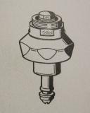 2000104400 / 82-100-03.112 Franke Aquarotter Oberteil DN25 für Magnet - Selbstschlussventile