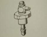 20001330 Franke Aquarotter Oberteil DN20 für Selbstschlussventile  mit Fernbetätigung